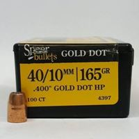 40 Caliber Bullets For Sale 165 GD HP - Speer