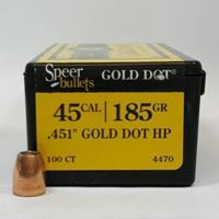 45 Caliber Bullets For Sale 185 GD HP - Speer