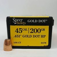 45 Caliber Bullets For Reloading 200 GD HP - Speer
