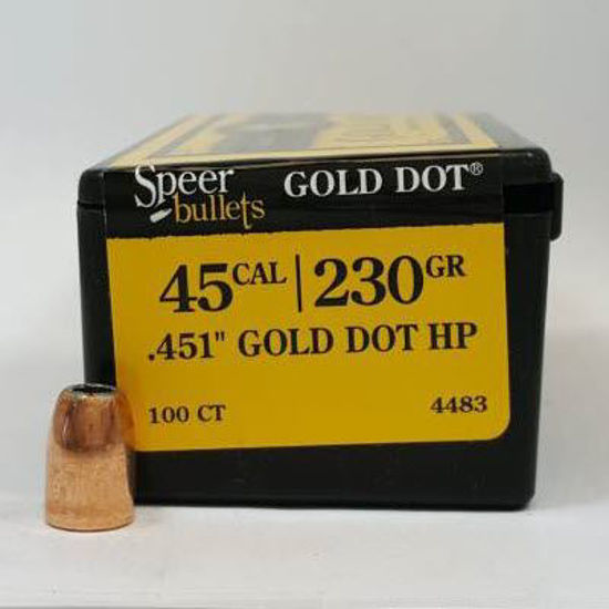 45 Caliber Bullets For Sale 230 GD HP - Speer