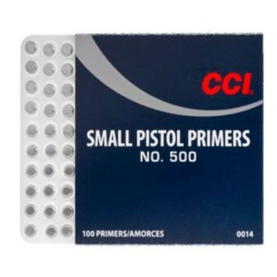 Small Pistol Primers CCI 100pk - IN STORE ONLY