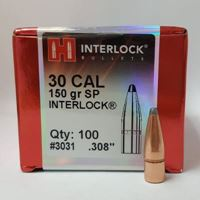 30 Caliber Bullets 150 SP InterLock - Hornady