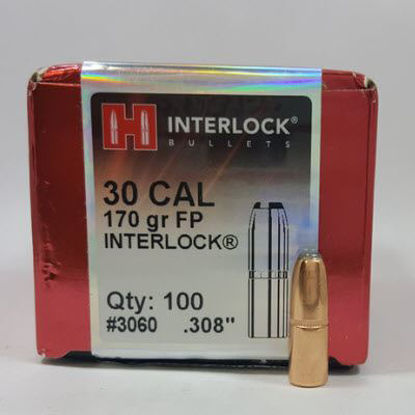 30 Caliber Bullets 170 FP InterLock - Hornady