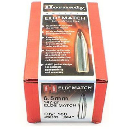 6.5mm Bullets 147 grain Hornady ELD-M 100pk
