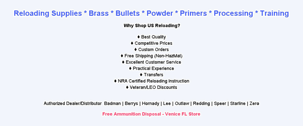 Bullet and Brass Reloading Supplies - US Reloading Supply