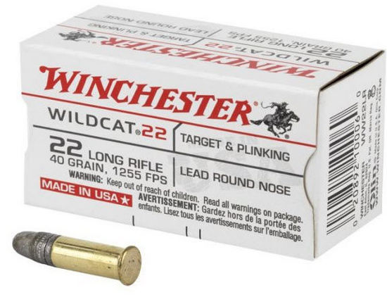 Ammo 22 Long Rifle 40 grain Lead - Winchester 50pk