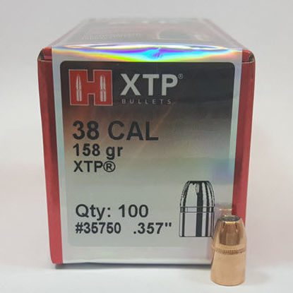 38 Caliber Bullets 158 grain HP Hornady XTP 100pk