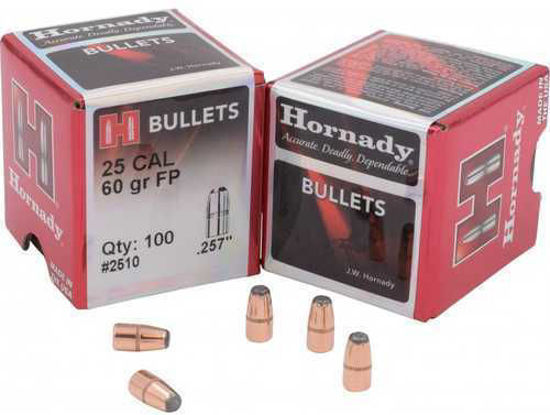 25 Caliber Bullets 060 grain FP Hornady