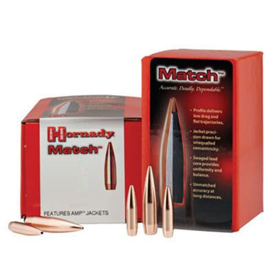 30 Caliber Bullets (308) 178 grain BTHP Match Hornady
