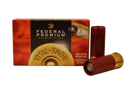 Ammo 12 ga Rifled Slug - Federal pk/5